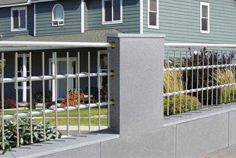 Gartenzaun Zaunsteine Mauern Abdeckplatten Hausler